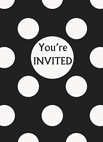 Polka Dot Party Einladungen, 8Stück