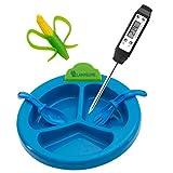 Digital Babyflaschen - Babyteller Thermometer, Beißring und Besteck Set 5598 blau