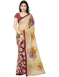 Kashvi Sarees Women's Faux Georgette Saree With Blouse Piece (2942_4, Multicolor, Free Size)