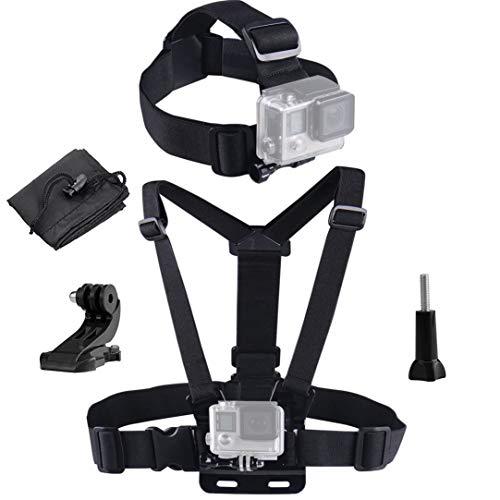 LONDON FAB Action-Kameragurte, kompatibel mit Allen Gopro- und Action-Kameras (Brustgurt + Kopfband)