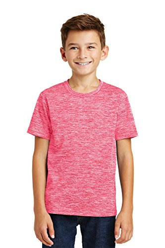 Sport-Tek® Youth PosiCharge® Electric Heather Tee. YST390 Power Pink Electric M