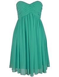 FASHION PLAZA ohne Schulterträger festlich Abendkleid Ballkleider Modul D0037