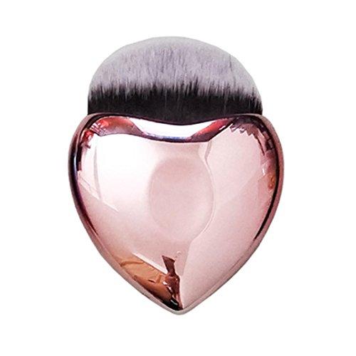 Pinceaux Maquillages, Pinceaux Pour Le Vsage,Cosmétique Brush,PowerFul-LOT Pinceau Cosmétique En forme De Coeur En Forme De Fond De Teint Blush Pro Makeup Brush (B)