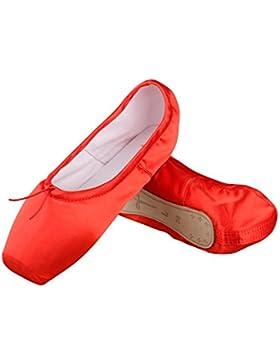 Ballet Spitzenschuhe Mädchen Satin Ballettschuhe Damen Tanzschuhe mit spitzenschoner und spitzenschuh,Bitte wählen...