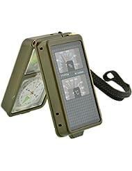 Forfar 10 1 Voyage d'équipement multifonction Randonnée Camping survie vitesse Kits d'outils Règle Sifflet LED Light Bou