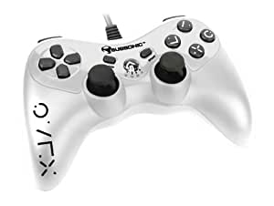 Subsonic - Pro Controller Black&White - WHITE - Manette filaire pour PS3 - Blanche