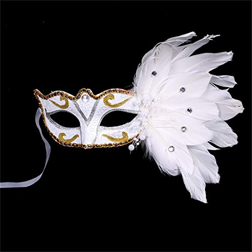 Factorys Maske Frauen Einstellbare Maske Maskerade Kostümparty Prinzessin Federmasken für Halloween, Weihnachtsfeier, Maskerade, Karneval, Hochzeit, Abschlussball, Modenschau und Kostümparty
