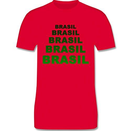 Länder - Brasil Fanshirt - Herren Premium T-Shirt Rot