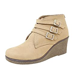 Athlego Womens Tan Synthetic high ankle Boot color