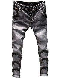 Jeans Pantalon Coton Vintage Homme Casual Automne Denim Pantalon de Travail  Hip Hop Malloom c4c7f8cbaea