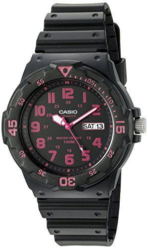 Casio Men's Classic Quartz Resin Automatic Watch, Color:Black (Model: MRW200H-4CV)