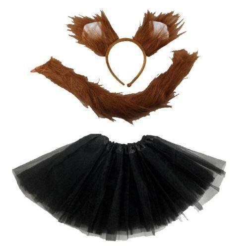 Unbekannt Fuchs - Kinder oder Damen Kostüm Set - Fox Tutu Costume for Ladies and Girls's - vertrieb durch ABAV (2tlg. Accessoire(Haarreif/Schwanz)) (Fox Dress Up Girl)