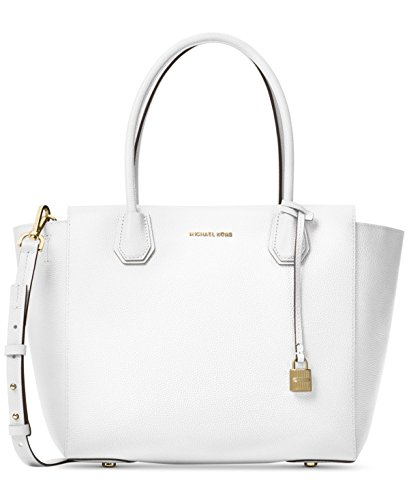 Sac De Sacoche Cuir Orange Grand Michael Kors Mercer Blanc Cassé