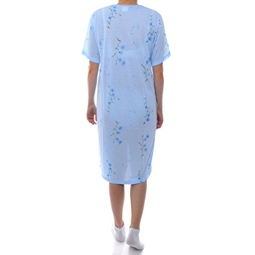 BEZLIT Damen Kurzarm Nachthemd Pyjama Kleid Schafshirt 21666 Blau