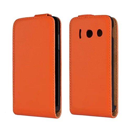 meimeiwu-genuine-flip-case-custodia-cover-protezione-per-huawei-ascend-y300-arancione