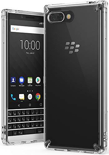 Ringke BlackBerry KEY2 Hülle, [Fusion] Transparent PC Rückseite Handyhülle Cover [Verbesserter Schutz der Ecken] Leichte TPU Stoßfänger Schutzhülle - Clear