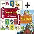 Fragenbär, Vorschule - Kleines Bundle BUZ Enth.: Spielend Mathe lernen mit den kleinen Geistern, 1 CD-ROM; Buchstaben- und Zahlenspiele