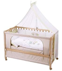 Roba Roombed, Babybett 60x120cm Glücksbringer, Beistellbett zum Elternbett mit kompletter Ausstattung