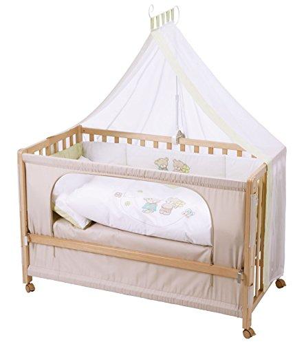 Preisvergleich Produktbild roba Roombed, Babybett 60x120 cm 'Glücksbringer', Beistellbett zum Elternbett mit kompletter Ausstattung