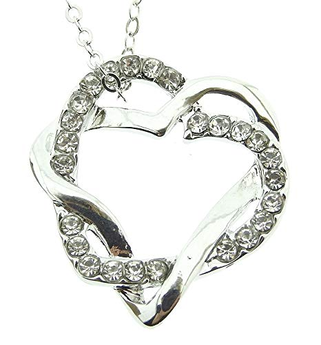 Lovelegis Kette für Frauen - Herzkette - Damen Halskette - Herz - Herzchen - Glitzern - Lichtpunkte - Valentinstag - Geburt