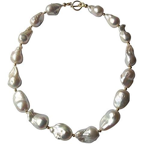 Collana di perle, stile barocco, misura grande - Coltivate Collana Di Perle Keshi