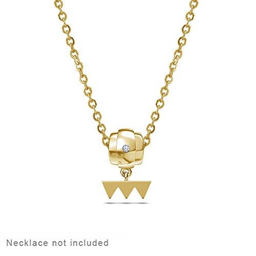 lilu Jewels véritable Argent Sterling 925Boucles Dangle Bracelet charme Parfait pour bracelet à charms type Pandora/Troll/Chamilia Jaune