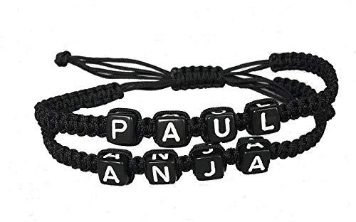 DIY Armband Partnerarmband Familienarmband mit 2-4 Wunschnamen *verschiedene Farben* - Armband Schokolade