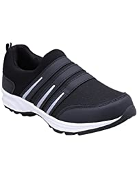CF_Better Deals Mens Synthetic Mesh Black White Coloured Sports Shoe| Running Shoes| Pro Running Shoes| Sprint...