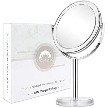 Danielle Creations Double Sided Makeup Mirror 1x 7x