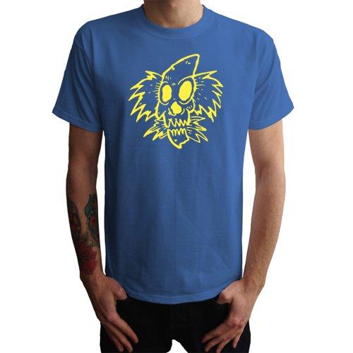 Clown Skull Herren T-Shirt Blau