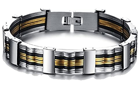 SaySure- Gold Plated Jewelry For Men Link Chain Bracelet