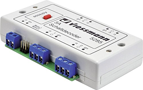 Viessmann 5285 - Descodificador multiprotocolo, Color Blanco