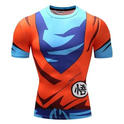 KYKU Dragon Ball ZT Shirts Männer Kompression Shirts Anime Superman T-Shirt Fitness Tops Vegeta Goku Coole Lustige Fitness T-Shirts