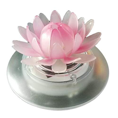 Homyl Schwimmende Frosch/Lotus Solarlampe Poolbeleuchtung für den Garten, Schwimmbecken,Teich Deko, Wasserdicht - Lotus