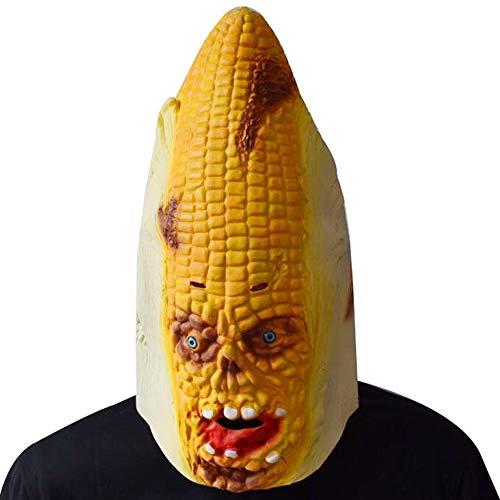 Mais Kostüm Festival - SAILORMJY Maske Halloween, Cosplay Maske Halloween Cosplay Kostüm Maske Lustige Requisiten Latex Maske Karneval Party Karneval Pflanzenform Mais Spiel Maske