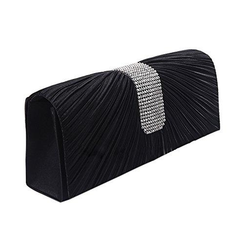 ChezAbbey Bag, Poschette giorno donna Black