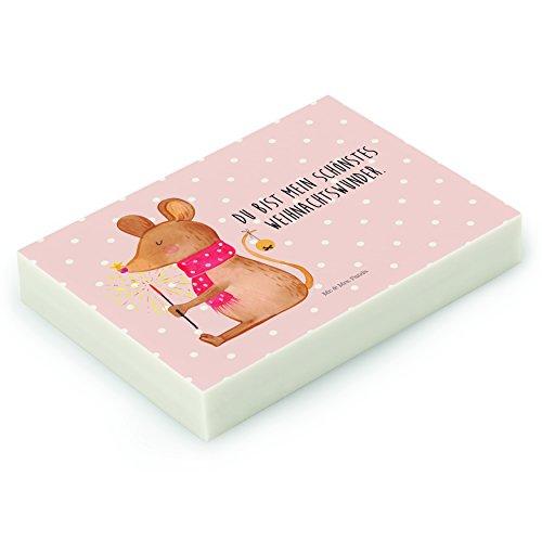 Mr. & Mrs. Panda Radiergummi Weihnachtsmaus - 100% handmade in Norddeutschland - Gummi, Natur,...