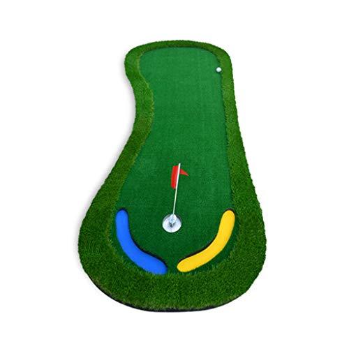 Indoor Golf Mini Putting Praxis Pad Fairway Fahrdecke Tragbare Golf Driving Range Mat (Color : Green)