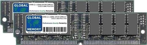 64MB (2 x 32MB) DRAM SIMM ARBEITSSPEICHER RAM KIT FÜR CISCO 3640 ROUTER (CISCO P/N MEM3640-64D)