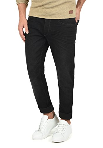 BLEND Taifun Herren Jeans 5-Pocket lange Hose Denim Slim Fit Stretch, Größe:W33/32, Farbe:Denim Black (76204) -
