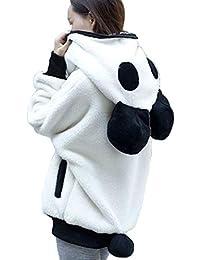 Sonnena Femme Sweatshirt Mignon Ours Panda Hiver Chaud Manteau À Capuche  Femmes Manteau À Capuchon Survêtement 818c5119230f