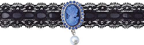 tüm Party Portrait Vintage Halskette Perle Anhänger Gemme UK ()