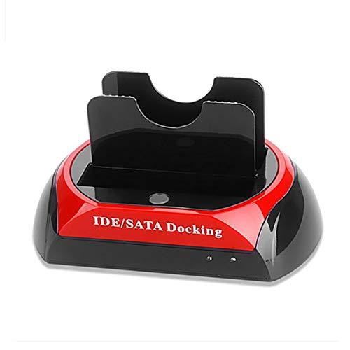 WEINANA Hochgeschwindigkeits-USB 2.0-Festplatten-Basisstation 2,5 Zoll / 3,5 Zoll IDE SATA Dock HUB Basisstation für Zwei Festplatten-Dockingstationen Basisstation