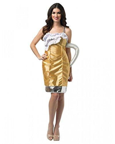 Horror-Shop Oktoberfest Bierkrug Kostüm für Damen an Fasching & zur Wiesn S/M