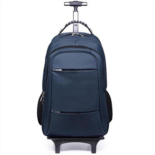 Trolley Rucksack Handgepäck Trolley-Tasche Leicht Tragetasche tragen Notizbuch Computerfach Reisetasche Entfernbar Hebel Rucksack , blue (Wochenende Tasche Fahrbare)
