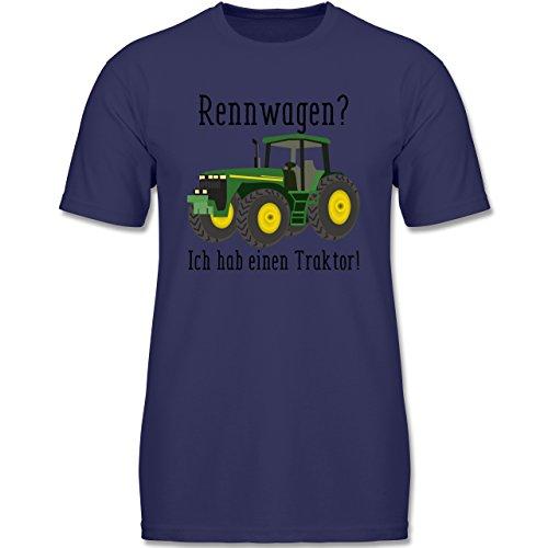 Shirtracer Fahrzeuge Kind - Rennwagen? Traktor! - 152 (12-13 Jahre) - Navy Blau - F140K - Jungen T-Shirt Tolle Arbeit Für Kinder