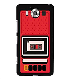 Fiobs Designer Phone Back Case Cover Microsoft Lumia 950 :: Nokia Lumia 950 ( Vintage Radio Old Days )