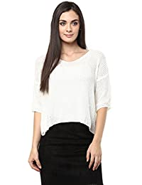 Remanika White color Knitted Top for womens