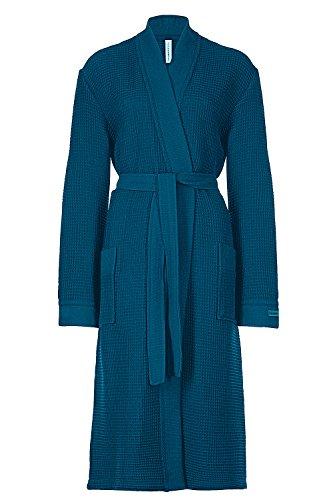 Taubert Spa Thalasso Bademantel Kimono 120 cm Baumwolle Pique (Gr. XS, Jeans)