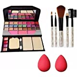 Women's & Girl's 6155 Maived Makeup Kit with 5 Makeup Brushes Set & 2 Beauty Blender
